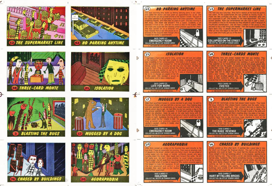 City of Terror bubblegum cards from Raw Magazine.jpg