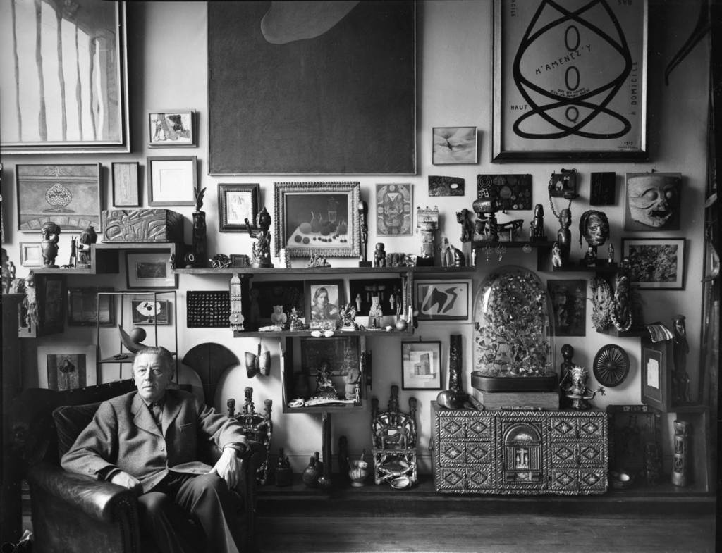 Andre breton at his home, 1956