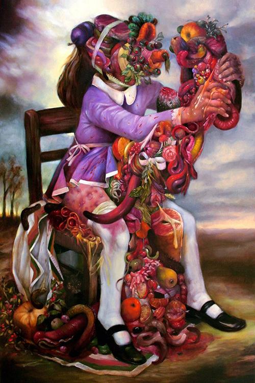 Autumn Pinata oil on panel 36 24 2009