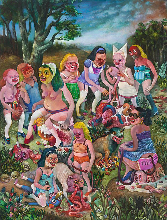 Scavenging Party, oil on panel, 24x18, 2015