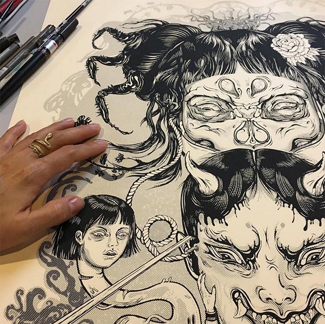 23_Evil Witch 50x70 silkscreen